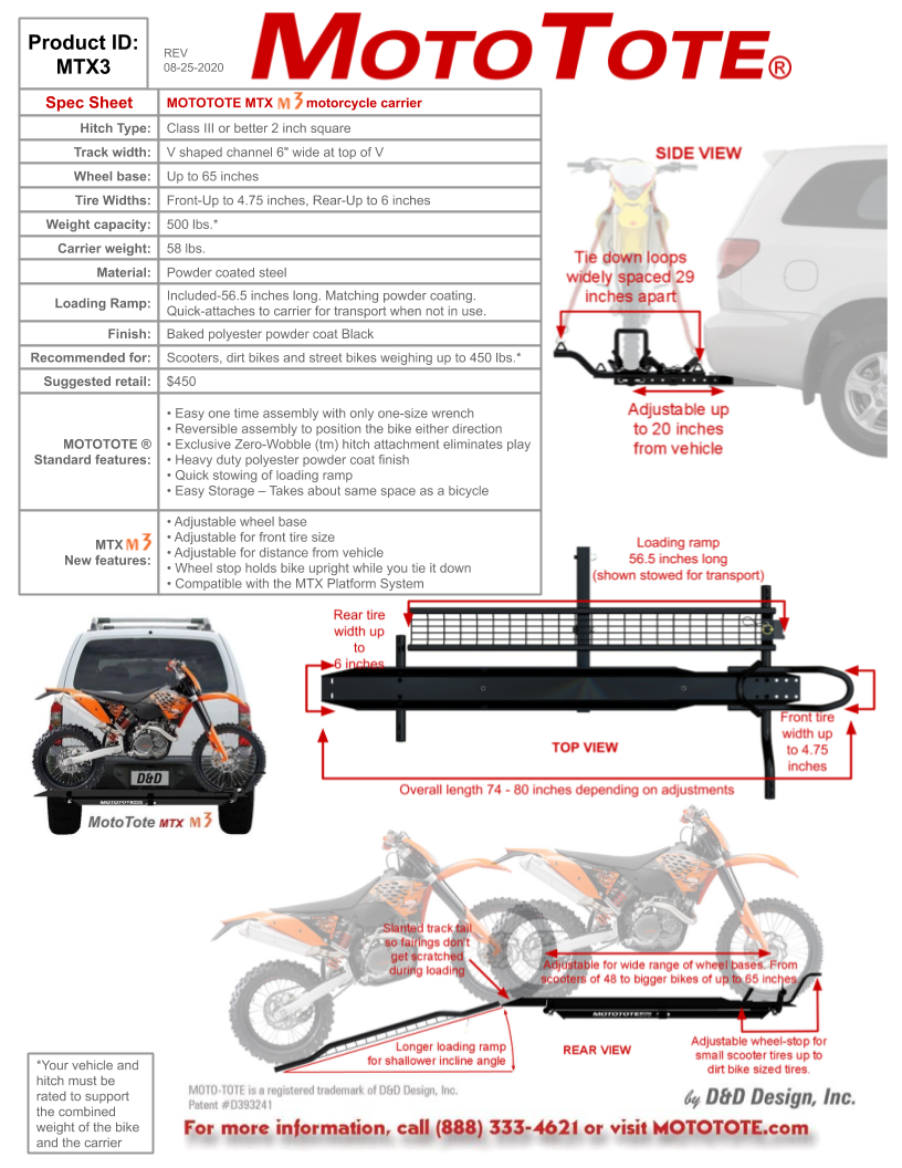 100 Dirtbike And Motorcycle Carrier Mo Tow Towbar