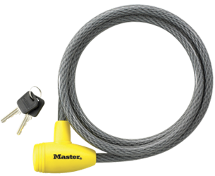 Masterlock Locking Cable - 5 ft X 1/2 in Keyed Master lock locking cable vinyl steel