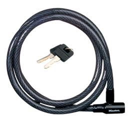 Masterlock Locking Cable - 6 ft X 5/8 in Keyed Masterlock Cable with Integrated Keyed Lock